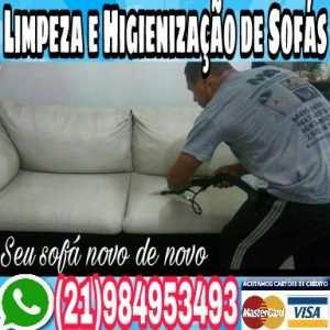 LIMPEZA SOFÁS RECREIO DO BANDEIRANTES RJ