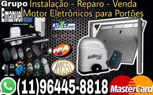 Instalação - reparos - venda motor eletrônicos para portões