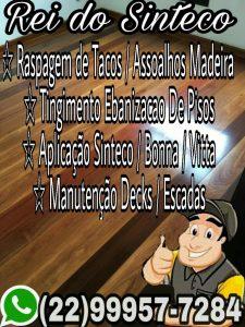 Raspagem de Tacos, Tingimento Ebanização de Pisos