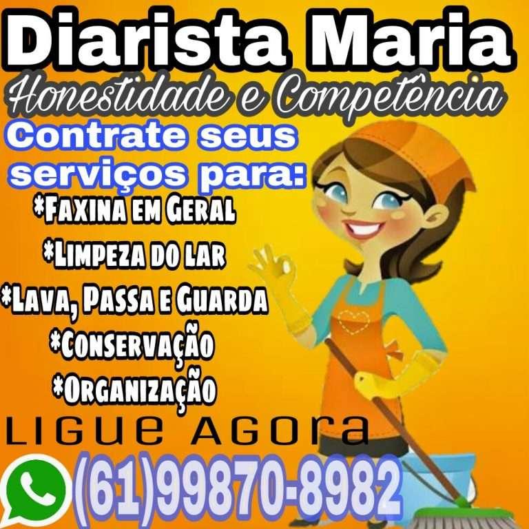 Faxineira em Formosa Goiás